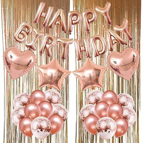 Amazon.com: Globos decorativos de Zerodeco, globos de feliz ...