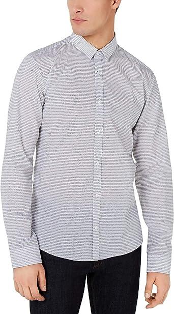 Hugo Boss - Camisa de algodón para Hombre con Manga Larga, diseño con Logotipo de Hugo - Blanco - Large: Amazon.es: Ropa y accesorios