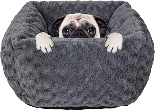 Poohoo Cuddler Bolster Dog Bed Cat Bed,Rectangular Plush Pet Bed 15 19 Machine Wash for Small Medium Dog Cat