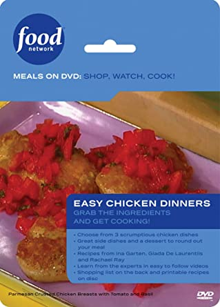 Amazon food network meals on dvd shop watch cook easy food network meals on dvd shop watch cook easy chicken dinner forumfinder Choice Image