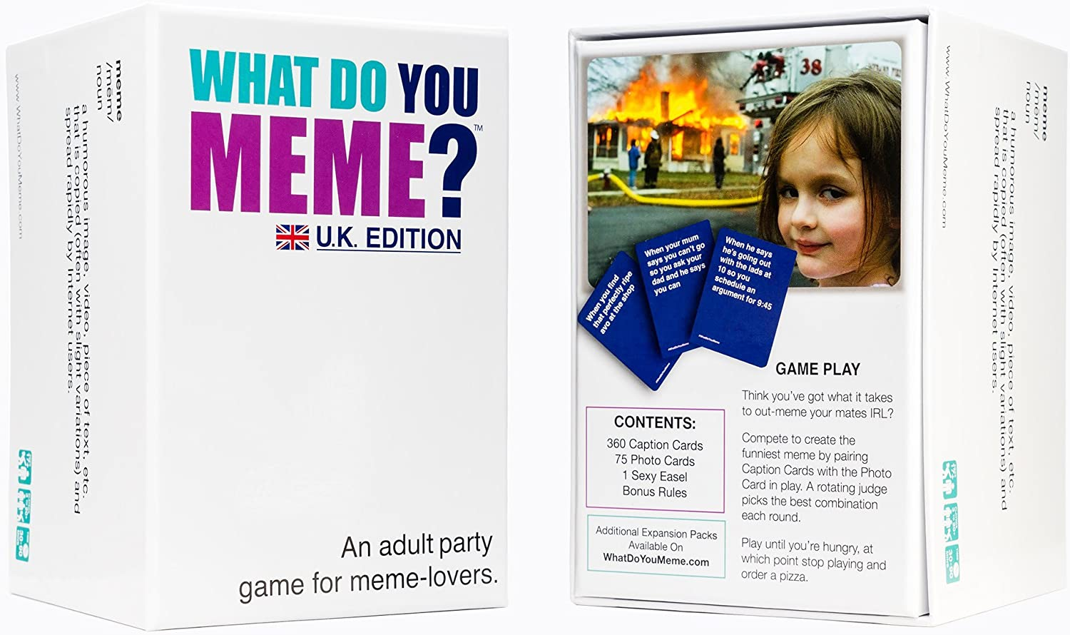 What Do You Meme UK Edition Adult Party Card Game For Meme Lovers Fast Delivery