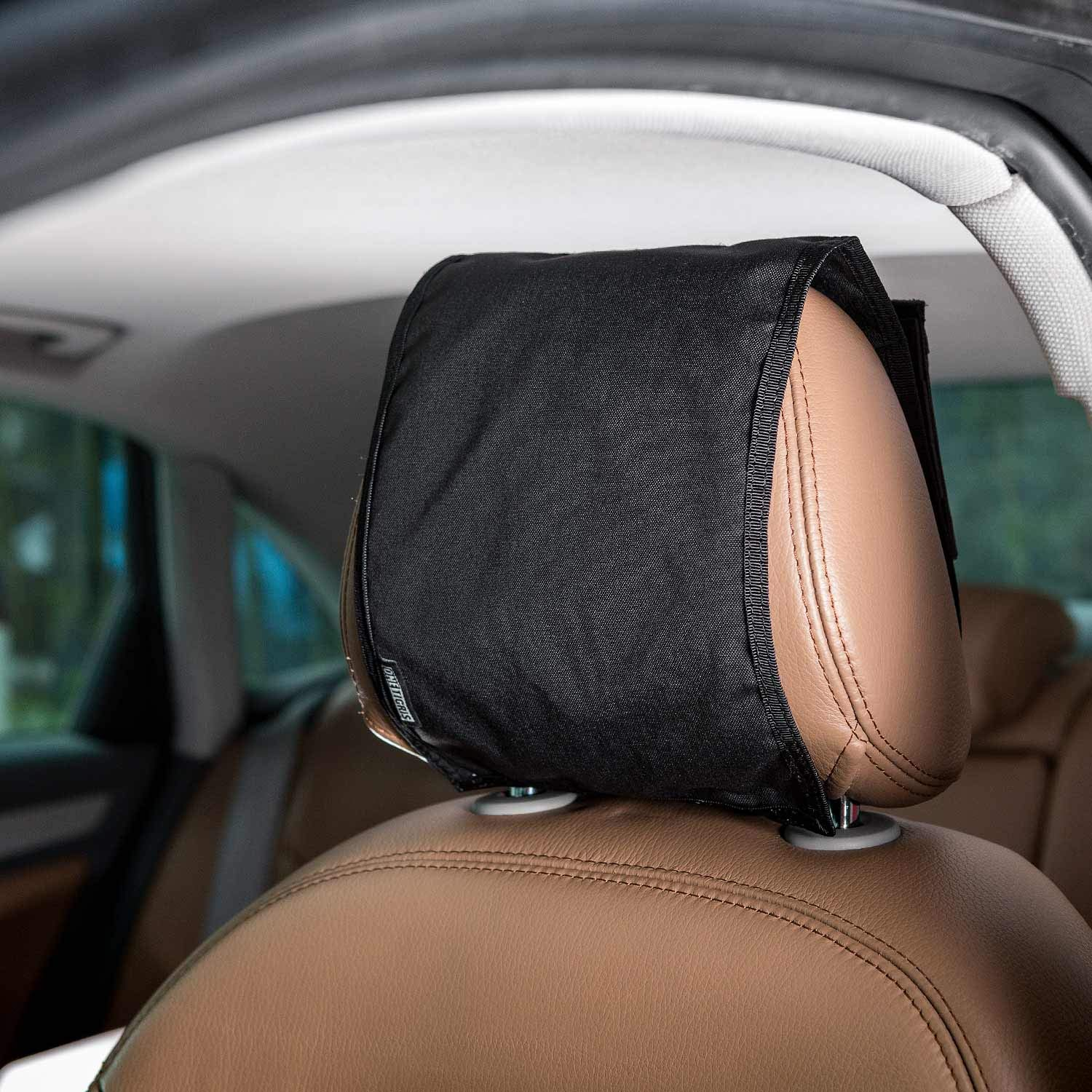 OneTigris Tactical Headrest Cover with MOLLE Back Panel for Car Seat (Black) 1T Gear