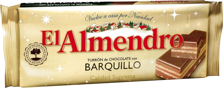 El Almendro Turrón Chocolate Barquillo - 285 gr: Amazon.es ...