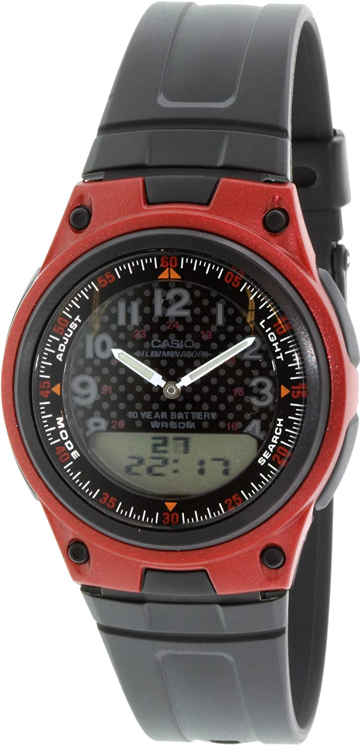 Casio General Mens Watches Digital-Analog Combination with 10 Year Battery Life AW-80-4BVDF - WW