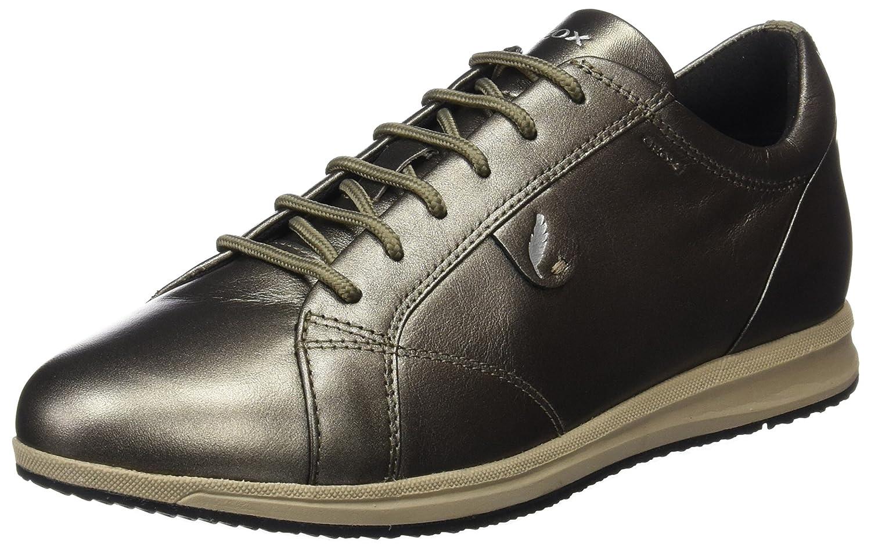 Geox D Avery B, Zapatillas para Mujer 36 EU|Marrón (Dk Taupe)