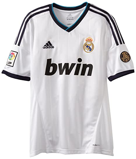 Amazon.com   Real Madrid Home Authentic Soccer Jersey 4739fdd090b40