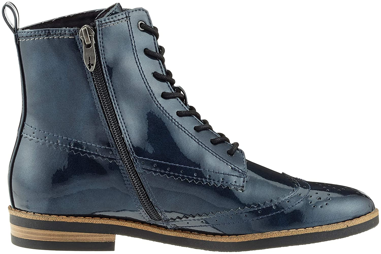 Tamaris Damen 25119-21 Combat Stiefel Stiefel Combat Blau (Navy Patent 826) 115c33