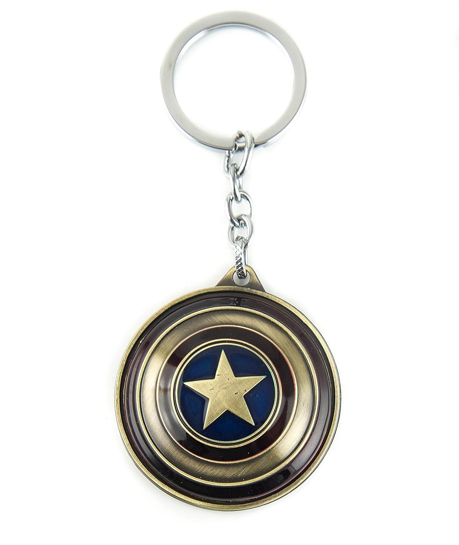 Copper lzy-store Captain America Bouclier porte-cl/és Super Hero Accessoires de poche /& # xff08; rotatif panneau /& # xff09