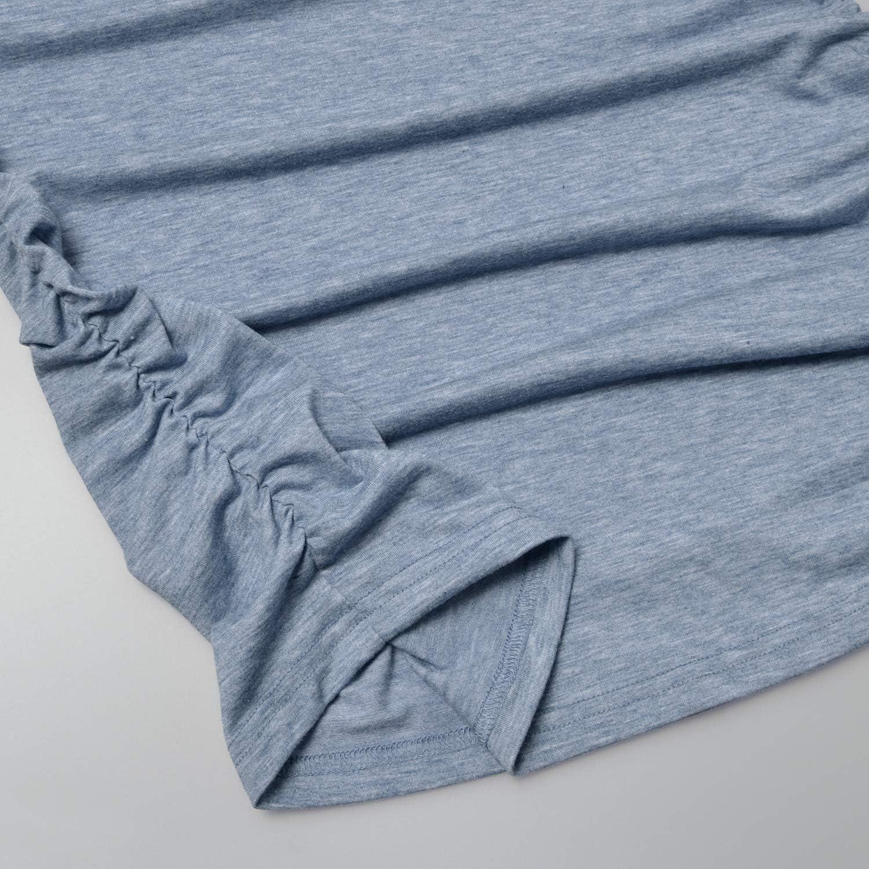 Bhome Maternity T Shirts Color Block Half Sleeve Top Henley V Neck Baseball Tee