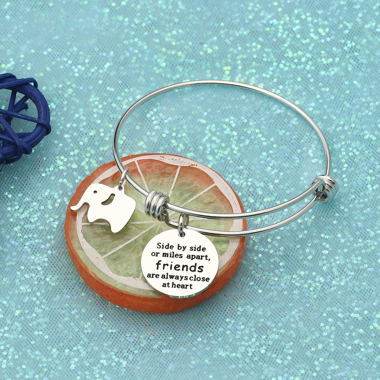 Amazon.com: CAROMAY Bangle Bracelet Lucky Elephant Friendship Bestie ...