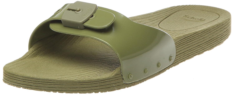Scholl Pop - Sandalias de pala unisex 39 EU Verde (Military Green)