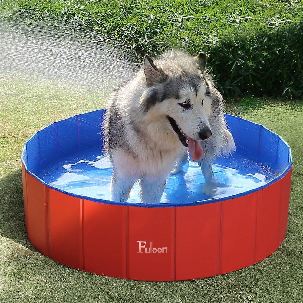 Fuloon - Piscina/bañera plegable para mascotas - Para lavar perros y gatos con seguridad - PVC