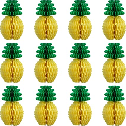Amazon Maxdot 12 Pack Pineapple Honeycomb Centerpieces Tissue