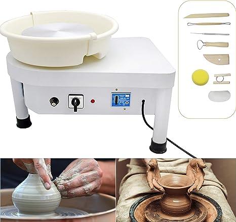25CM 250W 110V Electric Pottery Wheel Machine Ceramic Work Clay Art Craft US