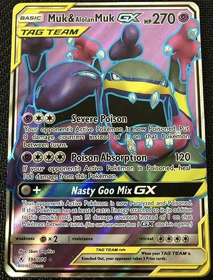 Full Art Ultra Rare Pokemon Unbroken Bonds NM 196//214 Muk /& Alolan Muk GX