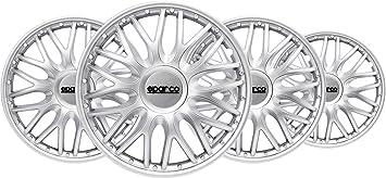 15 Zoll SPARCO SPC1596SVBK Radzierblenden Roma zweifarbig Silber//schwarz 4 St/ück