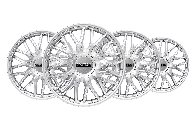 SPARCO SPC1496SV Copricerchi Roma Silver 14 Set di 4