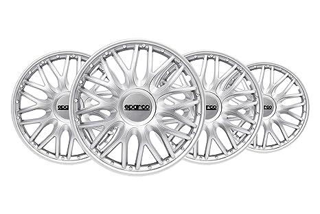 Amazon.com: Sparco SPC1596SV Wheel Trims Roma Silver 15 Inch ...