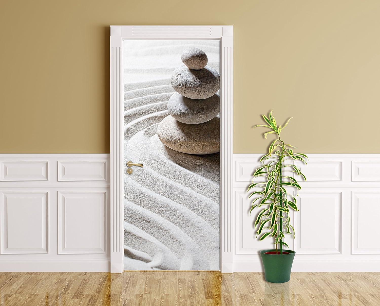 Bilderdepot24.de 11244 - Decorazione autoadesiva per Porta con Design Relaxing, 90 x 200 cm