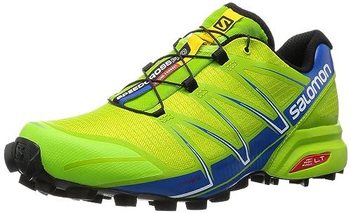 bf2c11341e5 Salomon Men's Speedcross Pro Trail Running Shoes, Multicolor (Granny Green/Union  Blue/