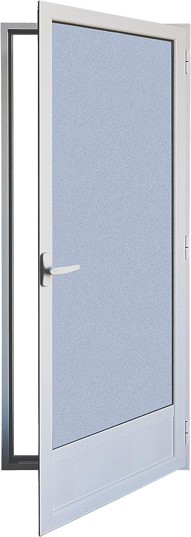 Puerta Balconera Aluminio Practicable Derecha 800 ancho x 2000 alto con Rejilla de ventilación y cristal mate Carglas 1 hoja: Amazon.es: Bricolaje y herramientas