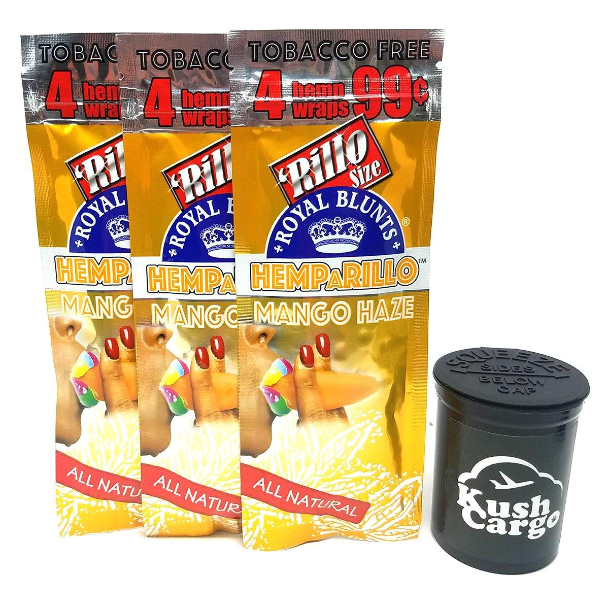 HEMPaRILLO Mango Hemp Wraps with KC Pop Top (15 Packs - Full Box)