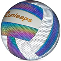 Holographic Glowing Reflective Volleyball - Light Up with Camera Flash Soft Lightweight Indoor Outdoor for Teenagers…