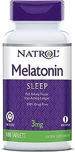Natrol Melatonin 3 mg Sleep Time Release Dietary Supplement Tablets 100 ea