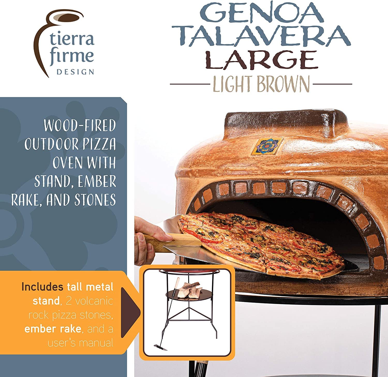 Tierra Firme WRPO-002-N Ravenna Talavera Wood-Fired Outdoor Pizza ...