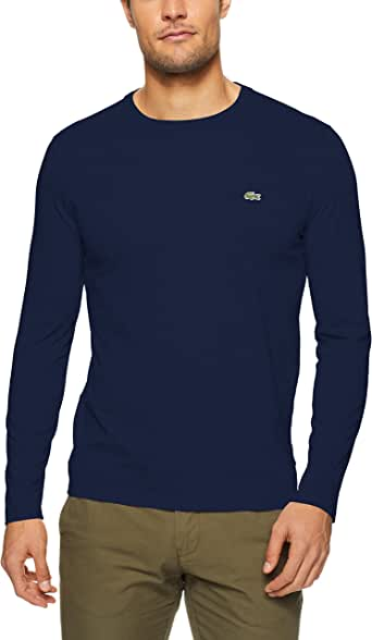 Lacoste Men Basic Crew Neck Long Sleeve Pima Tee
