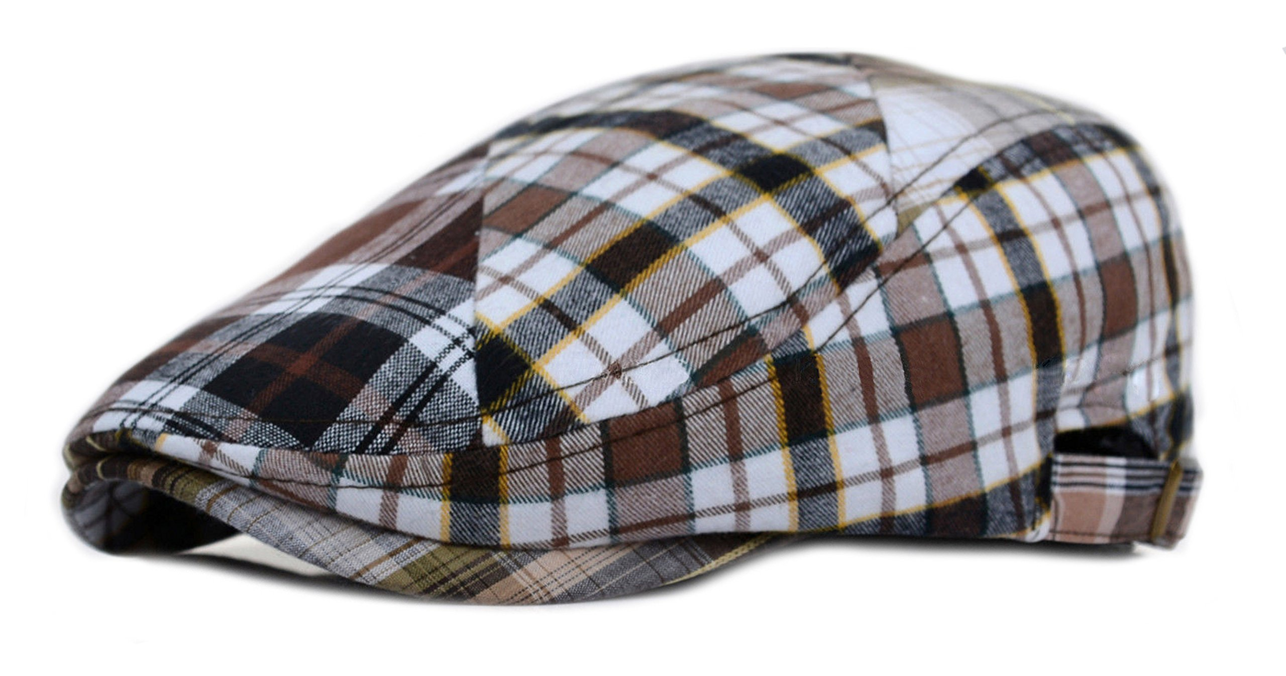 c9adcd4afd5 Deewang Fashion Cotton Cabbie Hat Buckle Golf IVY colorful newsboy Driving  Cap (Multi Color Brown) Apparel