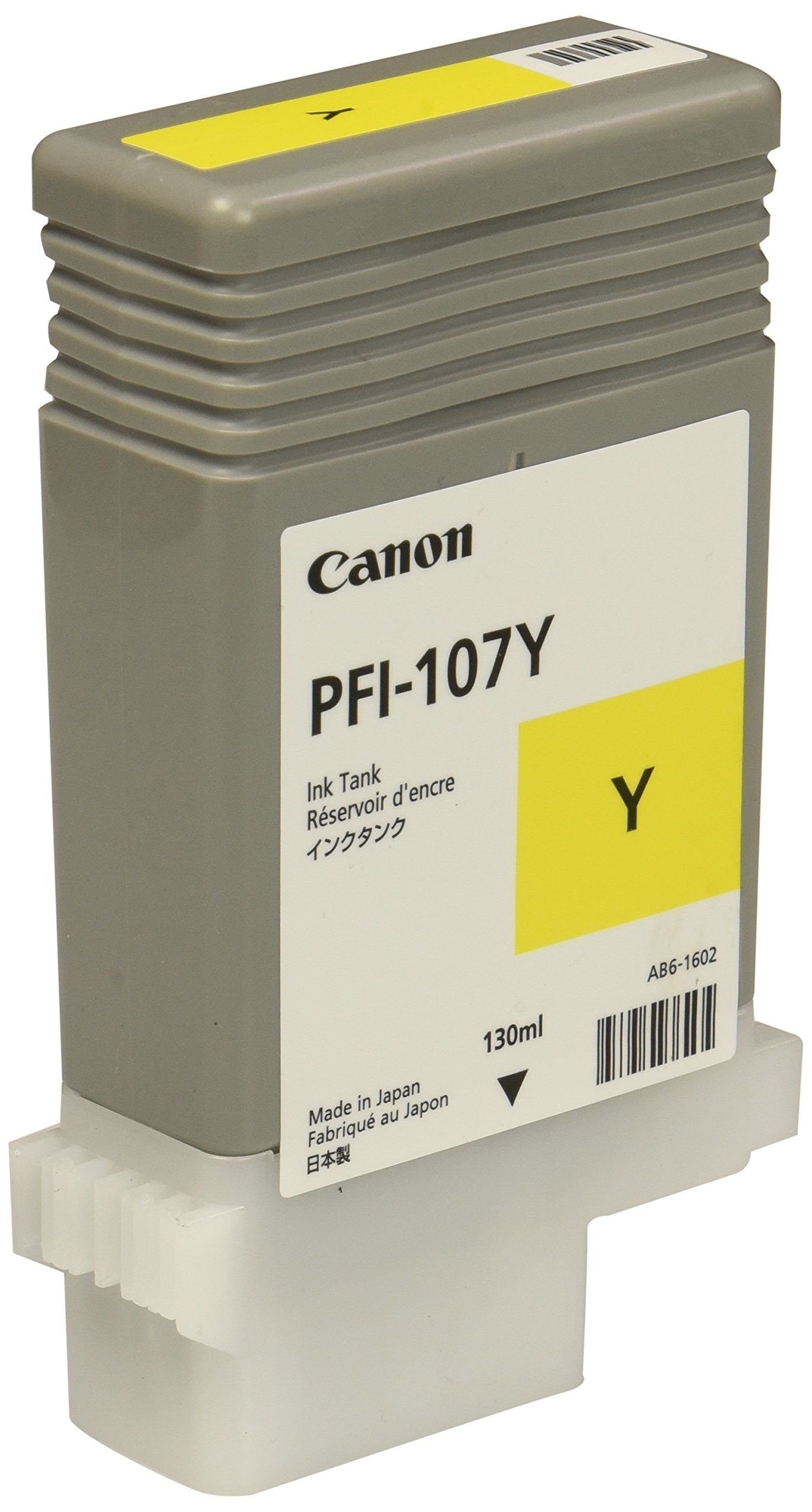 Canon PFI-107 130ml Ink Tank for Canon iPF680/685/780/785, Yellow