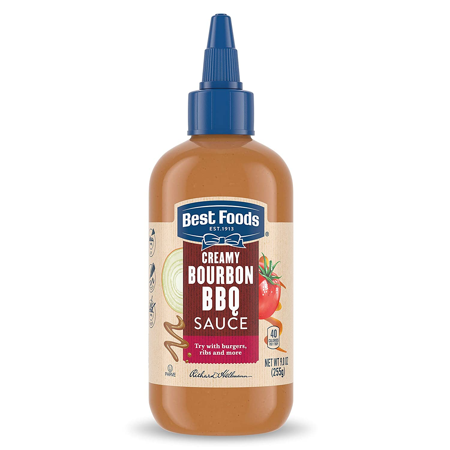Best Foods Sauce For A Delicious Condiment, Dip and Dressing Creamy Bourbon BBQ Dairy Free, No Artificial Flavors, No High-Fructose Corn Syrup 9 oz (10048001011967)