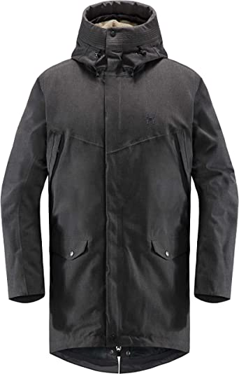 Amazon Com Haglofs Siljan Parka Men S True Black Melange Xl Clothing