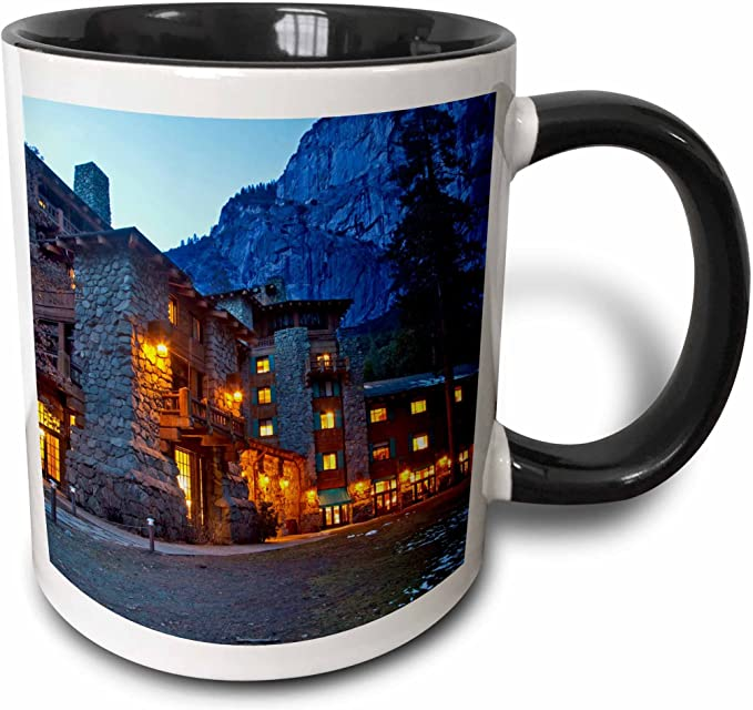 3drose Shawnee Lodge Yosemite Np California Use Us05 Cha0115 Chuck Haney Two Tone Mug 11 Oz Black White Kitchen Dining