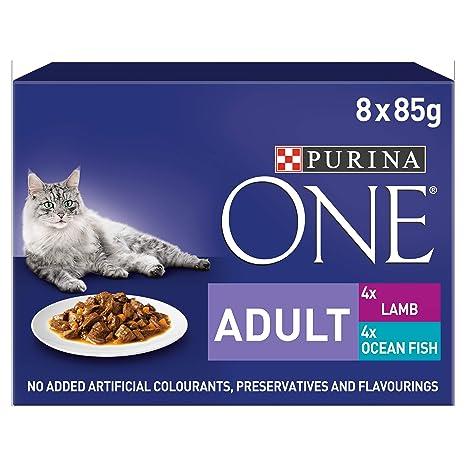 PURINA ONE - Lote de 5 filetes para Adulto con Forma de Gato ...