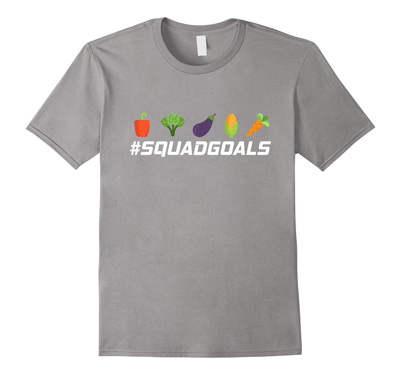 Funny Vegan AF Vegetarian Veganism T-Shirt - Squad Goals Veg-CD