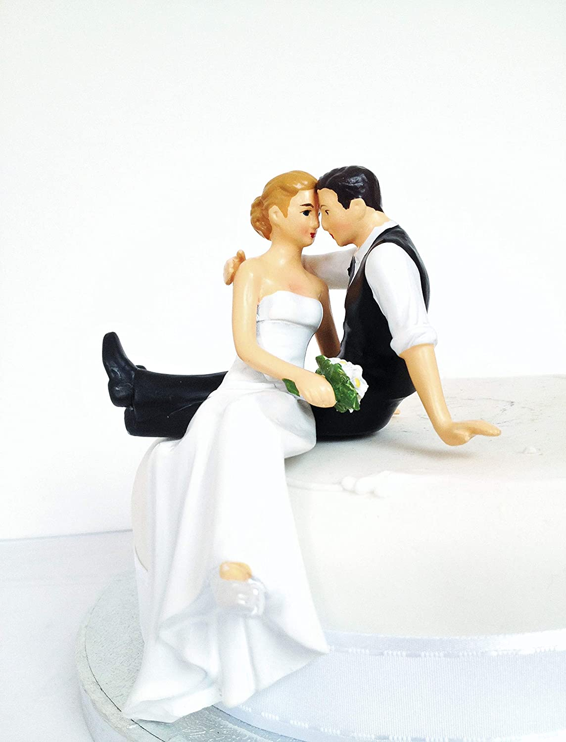 Wedding Cake Toppers Assorted Colours Bride And Groom Sitting Standing Wedding Decoration Present Cake Topper 10 By Dreamwedding Uk Amazon Ca Home Kitchen