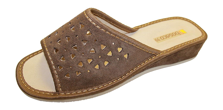 Pantofole di Lusso a Punta chiusa in Pelle Scamosciata Da Donna Donna Da Verde Scuro - V1 71846b