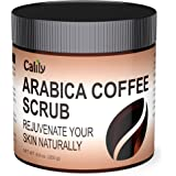 Calily Premium 100% Natural Arabica Coffee Scrub 8.8 Oz. – Achieve Smooth and Firm Skin - Deep Hydrating, Exfoliating and Cleansing – Helps Against Wrinkles, Cellulite, Stretch Marks, etc.