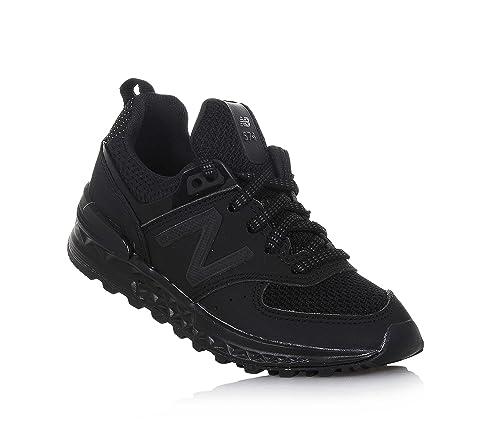 NEW BALANCE - Zapatilla Deportiva Negra Preschool en Crosta, Special Edition, con Doble Cierre de Velcro, Unisex-niños: Amazon.es: Zapatos y complementos