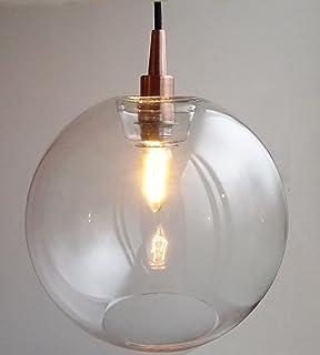 Generic modern industrial metal glass loft pendant lamp retro vintage round shade pendant lights by fab light modern retro glass ceiling lamp fixtures with aloadofball Gallery