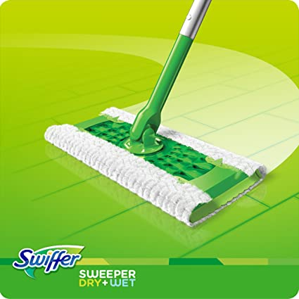 Swiffer Sweeper Cleaner Dry and Wet Mop Starter Kit for Cleaning Hardwood and Floors