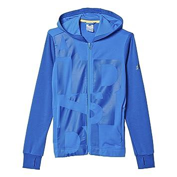 adidas YB LR B FZ Hood - Sudadera para niño, Color Azul, Talla 128: Amazon.es: Zapatos y complementos