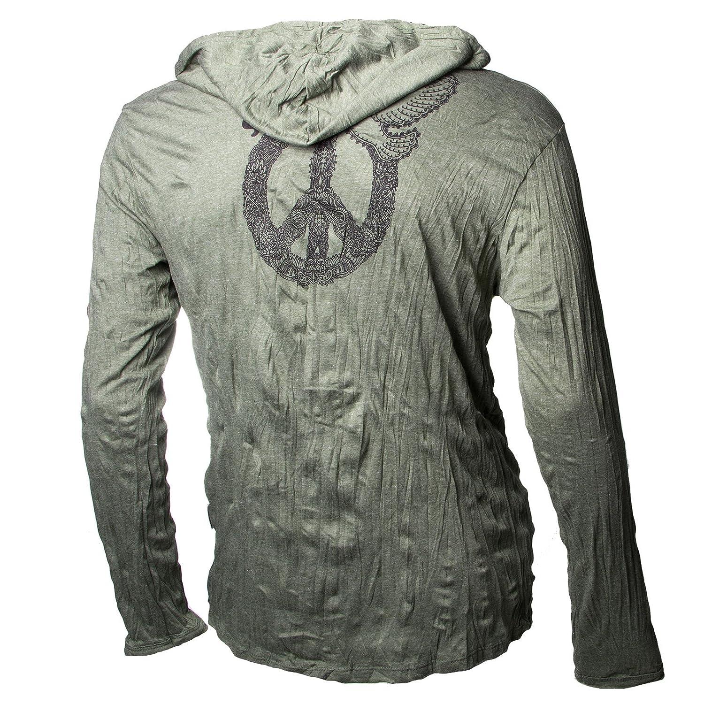 Kunst und Magie Sure Hoody Kapuzen Shirt Peace mit Friedenstaube:  Amazon.de: Bekleidung