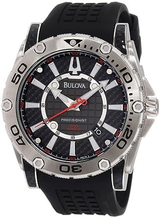 a2a606d1d82 Amazon.com  Bulova Men s 96B155 Precisionist Champlain Rotating bezel  Watch  Bulova  Watches