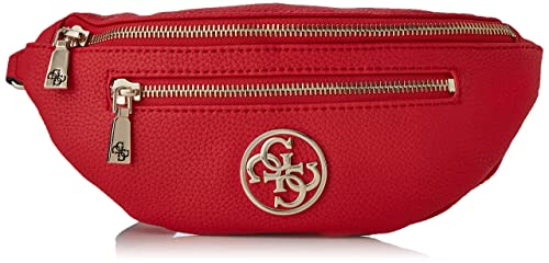 Guess Damen Detail Belt Bag Umhängetasche, rot, 30x13.5x6 cm