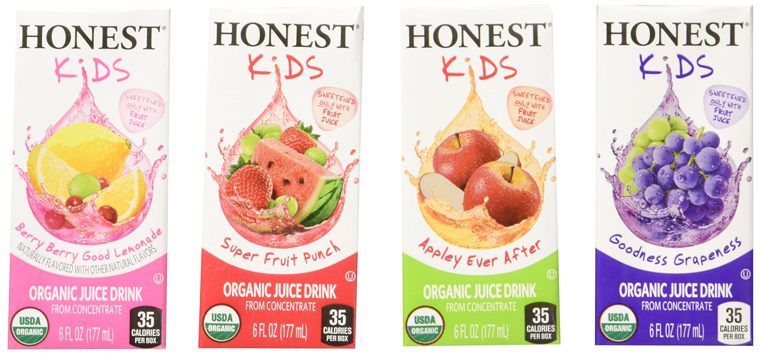 Honest Kids Organic Fruit Juice Drink Boxes, Assorted Flavors, 329.34 oz