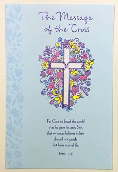 Amazon easter card religious the message of the cross easter card religious the message of the cross american greetings each m4hsunfo