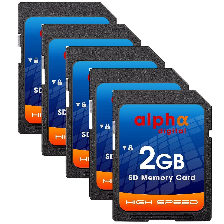Lot de 5 Transcend 2 GB SD Tarjeta de Memoria para Canon EOS ...